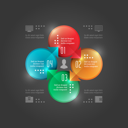 advertising column:  Modern Vector Infographics Template. Circles Diagram. Vector Concept Illustration Design