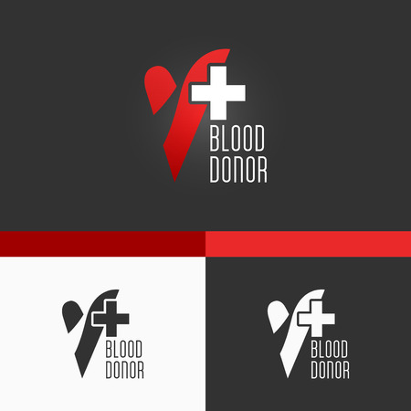 Blood Donation Template  Modern Vector Concept Illustration Design Vector