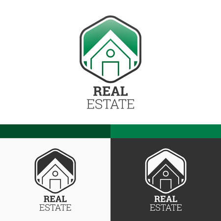 Real Estate Template  Modern Vector Concept Illustration Design Vector