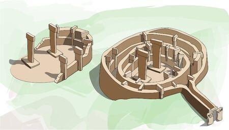 Gobeklitepe turc pour Potbelly Hill est un site archéologique dans la région de l'Anatolie du sud-est de la Turquie à environ 12 km 7 mi au nord-est de la ville de ? Anl? Urfa.