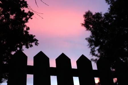 upward: Upward Fence Stock Photo