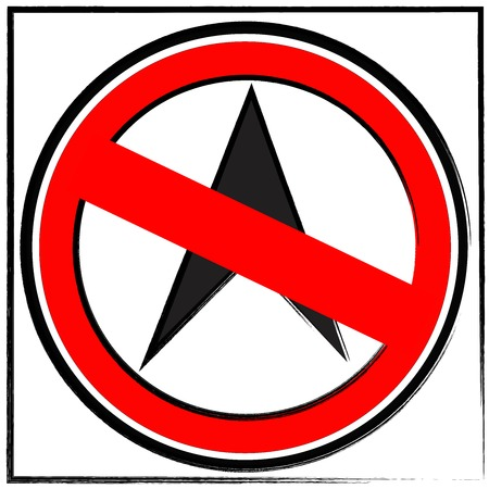 No go ahead the way ,No forward sign on white
