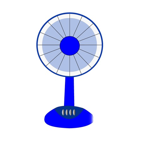 electric fan blue on white background photo