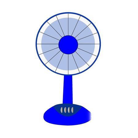 electric fan blue on white background Stockfoto
