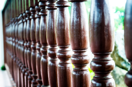 DOF wooden fence