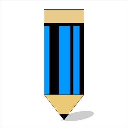 wood pencil icon 1 piece. Stockfoto