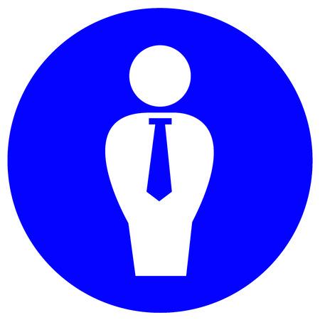 Flat icon of businessman.