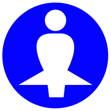 Woman in a circle icon.