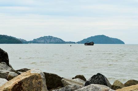 Landscape  sea waves on the beach.Thailand,Phuket Stockfoto