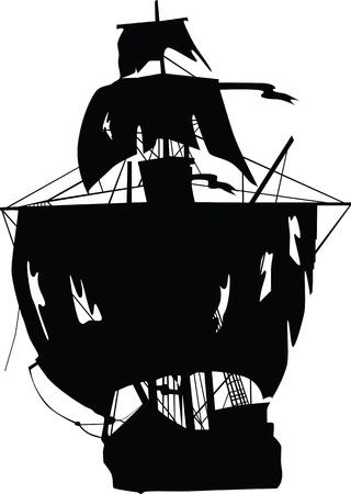 navire: Vecteur de navire de pirates. Vector illustration.
