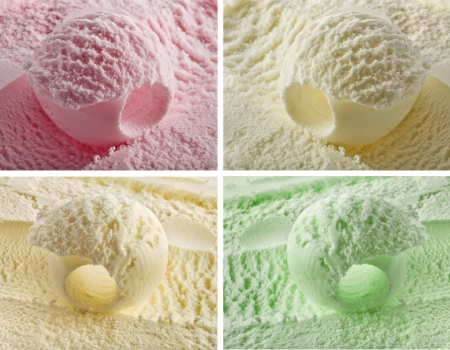 melting ice: color ice cream Stock Photo
