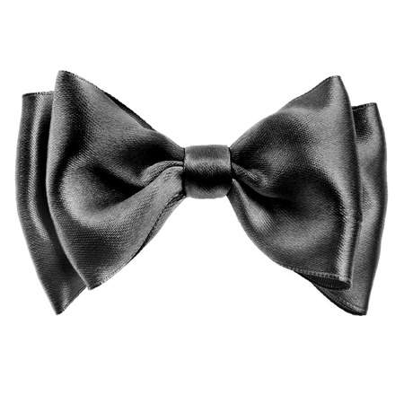 Black bow tie isolated on white background photo