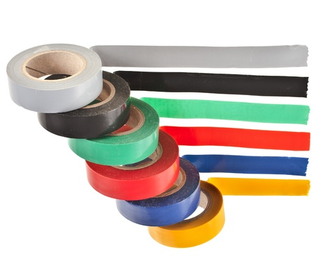 color adhesive tape roll isolated on white background Stock Photo - 17919543
