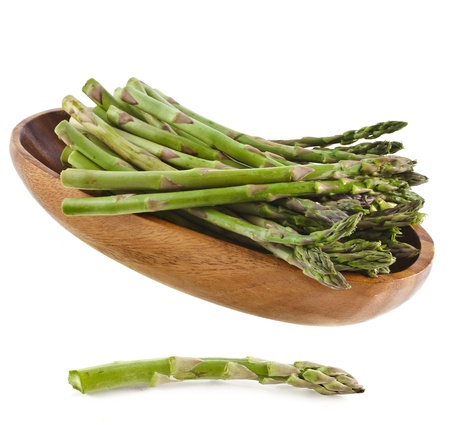 shallop: Asparagus isolated on a white background