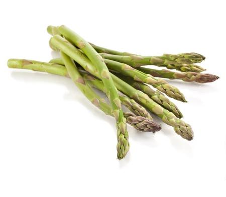asperges: asperges geïsoleerd op een witte achtergrond Stockfoto