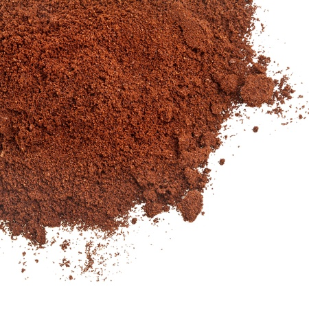 powder: coffee powder isolated on the white background Stock Photo