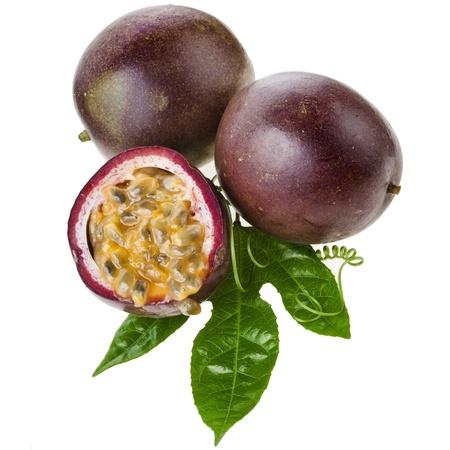 grenadilla: Passion fruit on a white background