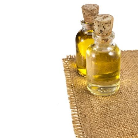 bottle oil isolated on white background photo