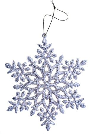 christmas snowflake shape decoration isolated on white Stock Photo - 18428302