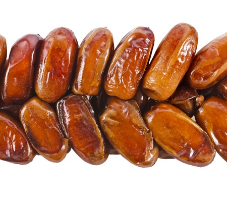 date palm tree: fresh dates fruits isolated on white