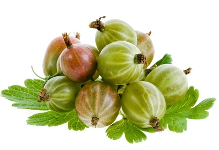 gooseberries: Gooseberries isolated on a white background