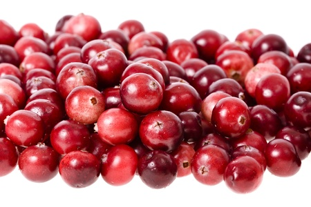 moos: cranberries isolated on white background Stock Photo