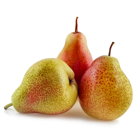 fresh pears isolated on white photo