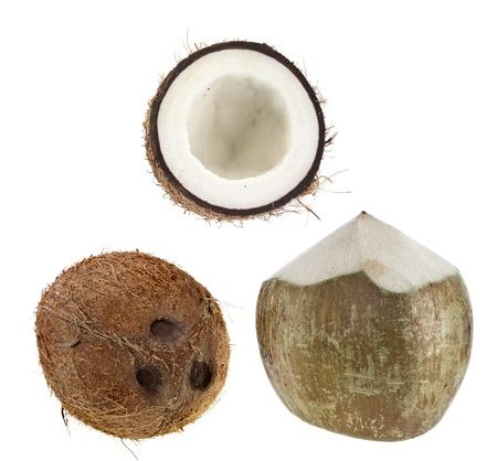 husks: coconut isolated isolated on white background