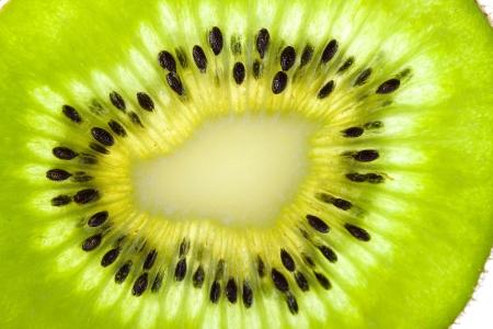 close shot: Macro photo of a fresh kiwi close up macro shot surface Stock Photo