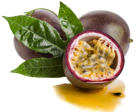 grenadilla: Passion fruit close up isolated on a white background