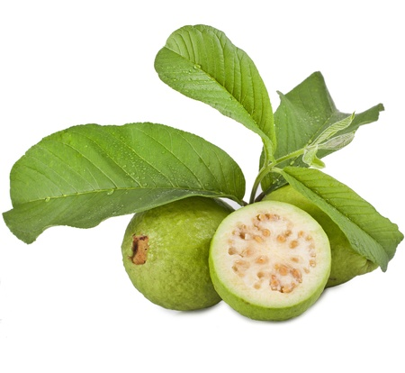 fresh guava isolated on white background photo