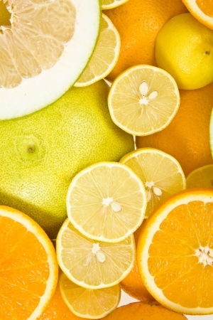 citrus maxima: citrus background top view surface  Stock Photo