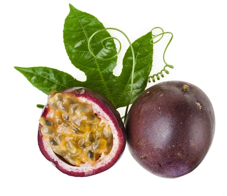 passion fruit: Passion fruit on a white background