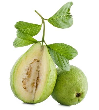 guava: fresh guava fruit isolated on white background Stock Photo