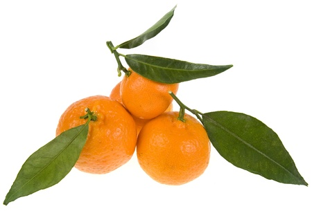 tangerine tree: mandarine   tangerine  pile heap isolated on a white background
