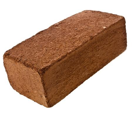 One Block of Coconut Coir Husk Fiber isolated on white background Stock Photo - 20136865