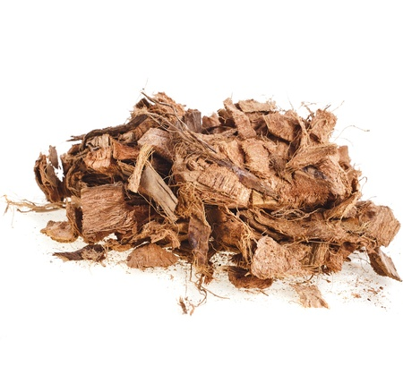 bark mulch: Coconut Husk Chip Block isolated on white background