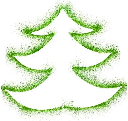 Christmas tree on white paper background Stock Photo - 20486878