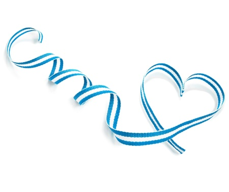 Ribbon Tape Shape Heart Valentine s Day isolated on white background photo