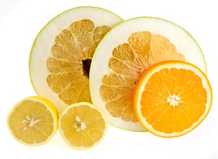 citrus maxima: fresh citrus fruit isolated on the white background