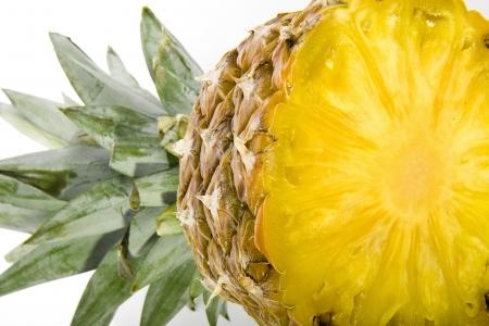 fresh pineapple isolated on white background photo