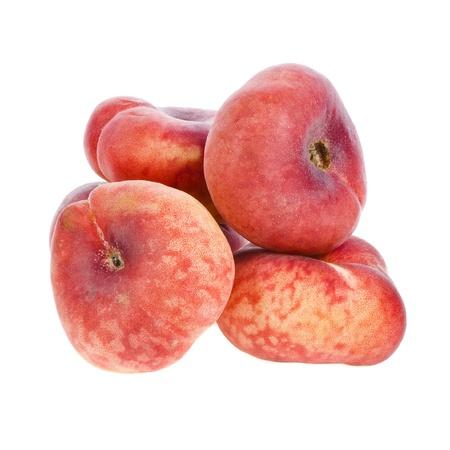 velvety: Donut Peach, isolated on white