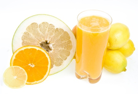 citrus maxima: fresh juice from citrus fruit