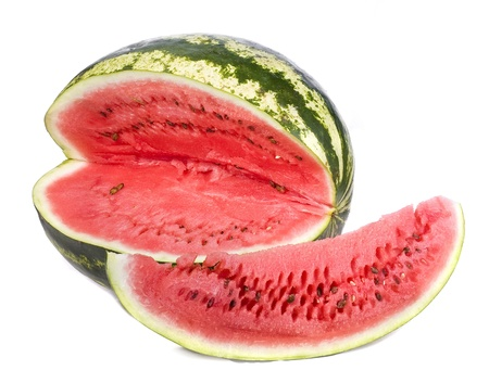 pulpy: watermelon isolated on white background