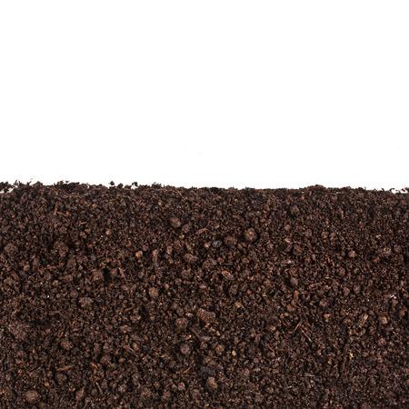 シャベル、堆肥、丘、栽培、クローズ アップ、ヒープ、穀物、ウェット、ツリー、回復、土壌、ラフ、ほこり、鉄鋼、誰も、自然、農業、泥、白、