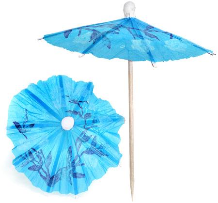 cocktail umbrella: Cocktail Paper Umbrella isolated against white background
