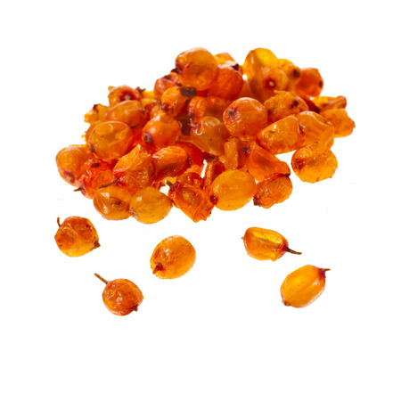 buckthorn: Dried sea buckthorn isolated on white background