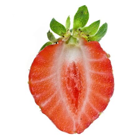 half strawberry isolated photo