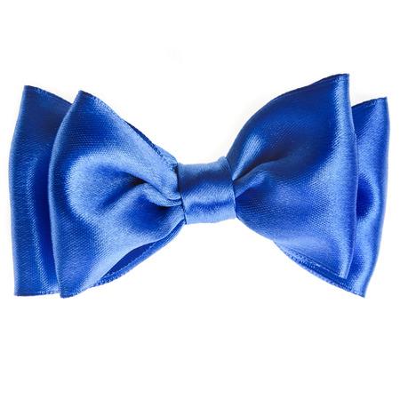 lazo regalo: lazo azul lazo de la cinta cerca aisladas sobre fondo blanco Foto de archivo