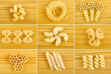 kinds: different kinds of italian pasta